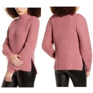 Leith Chunky Cable Knit Sweater Pink, Size 2X